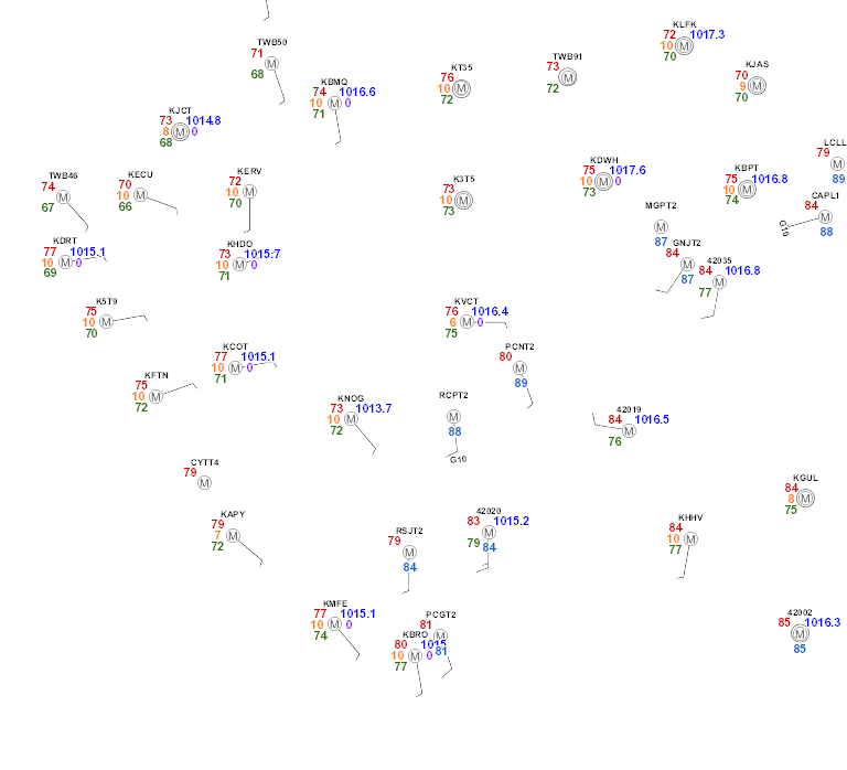 NWS Surface Observations